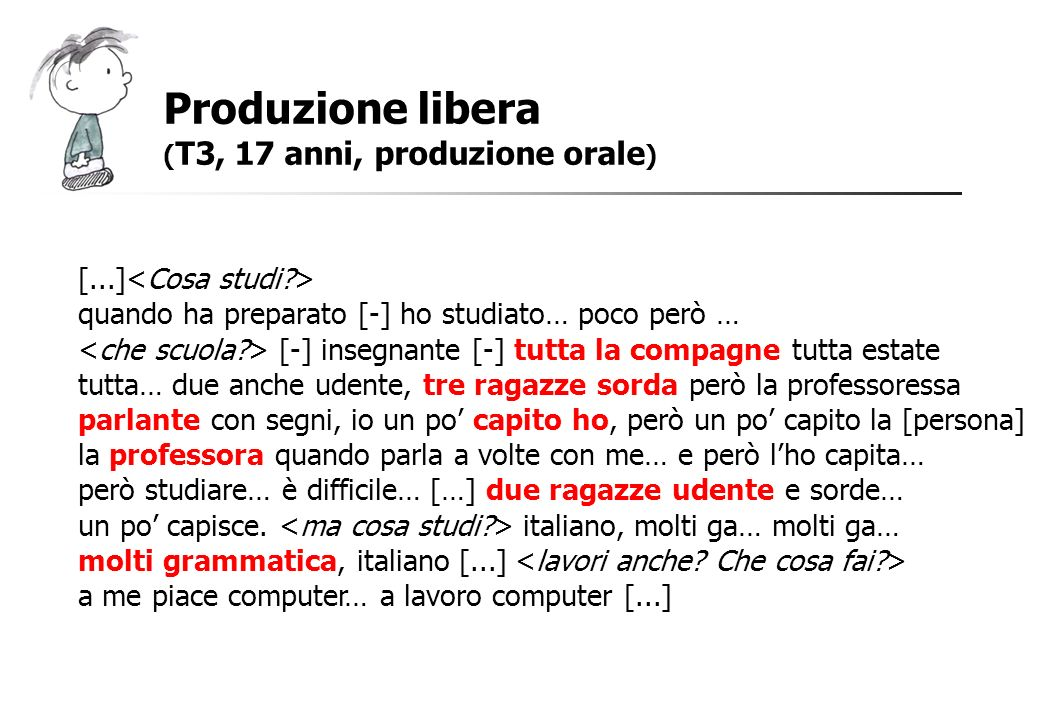 Produzione libera [...]<Cosa studi >